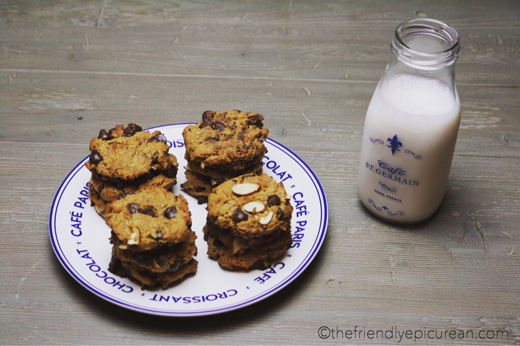 Almond Butter Chocolate Chip Cookies (vegan, gluten free)
