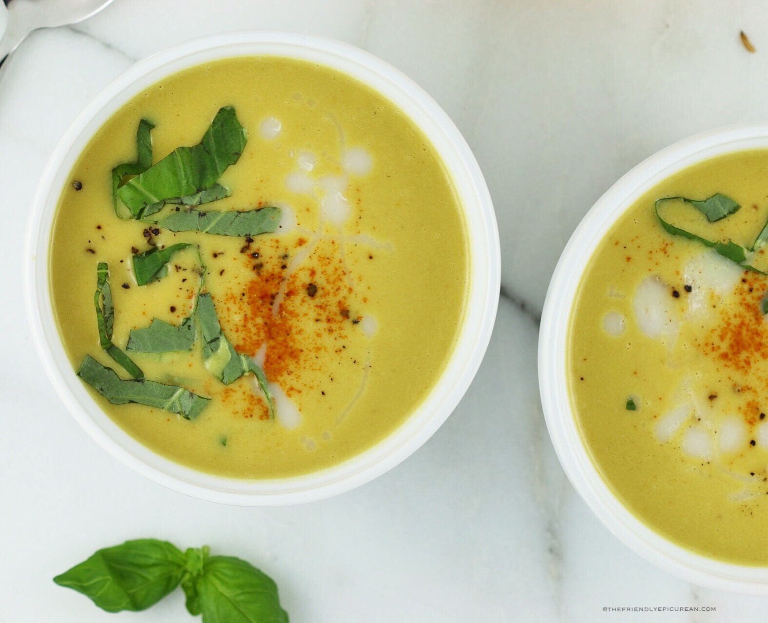 Curried Cauliflower Soup (vegan, gluten free)