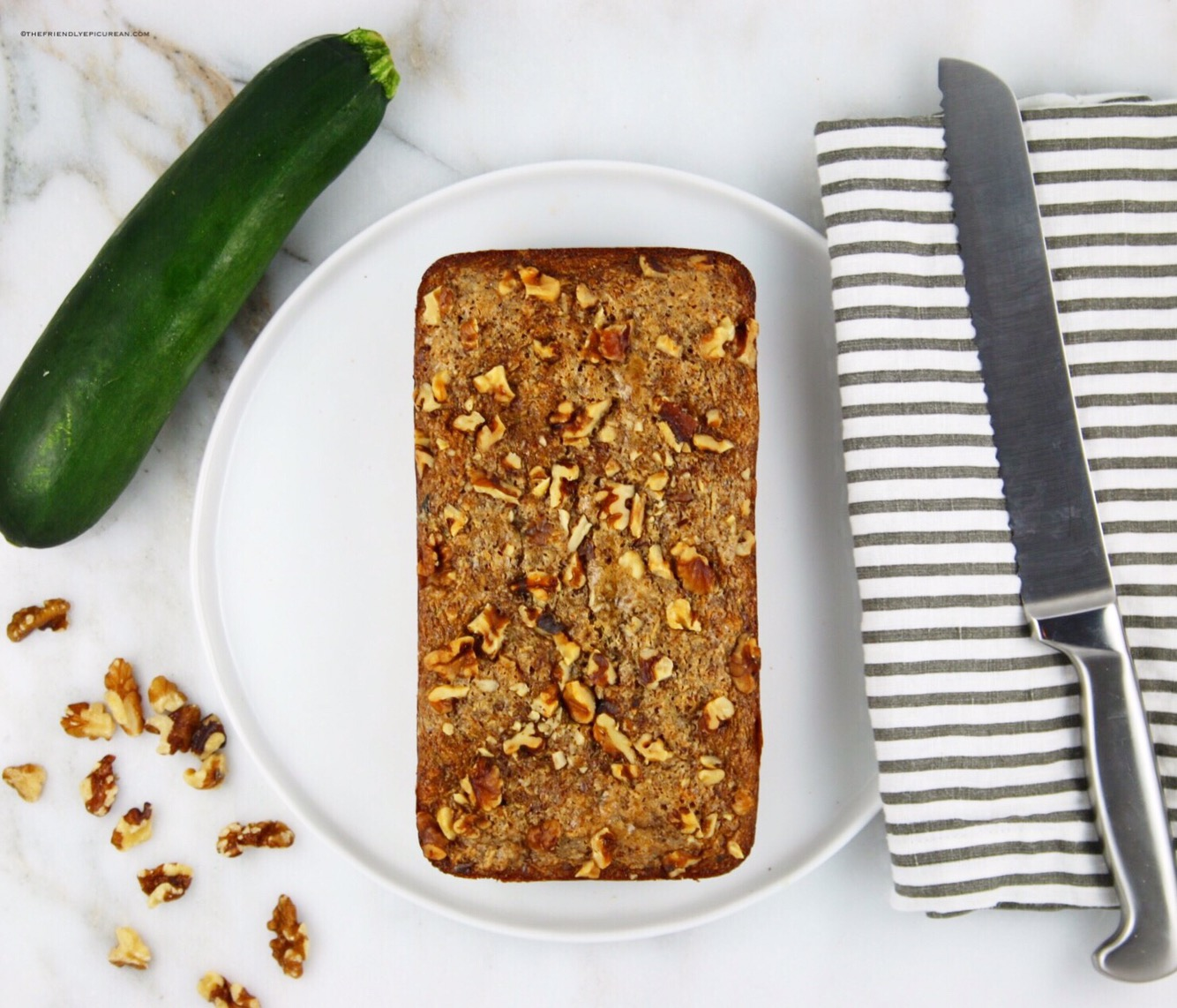 Vegan Zucchini Walnut Bread