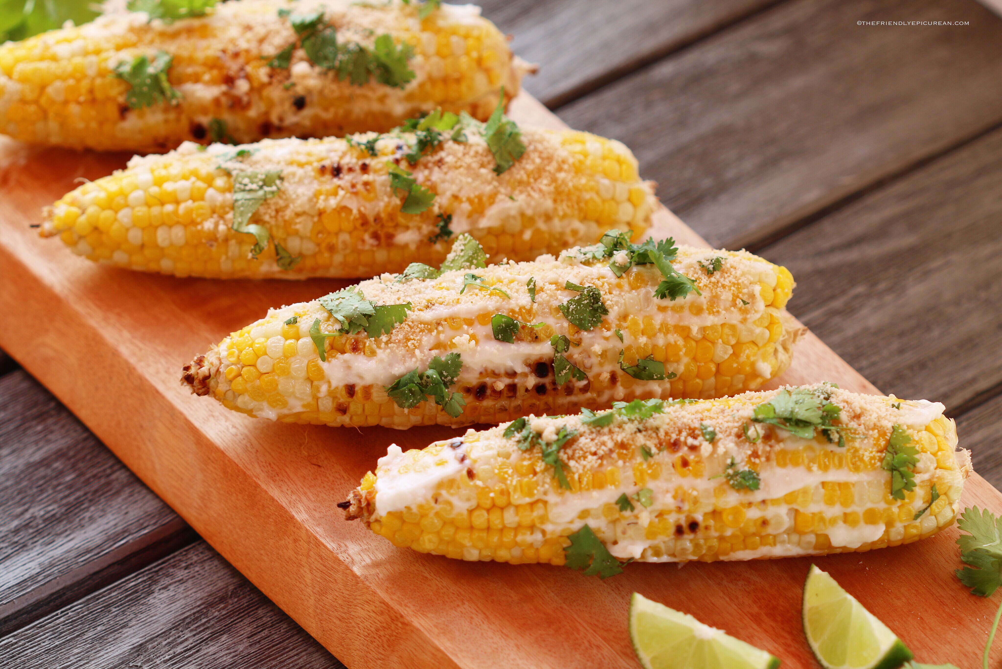 Elotes (Mexican Style Corn)
