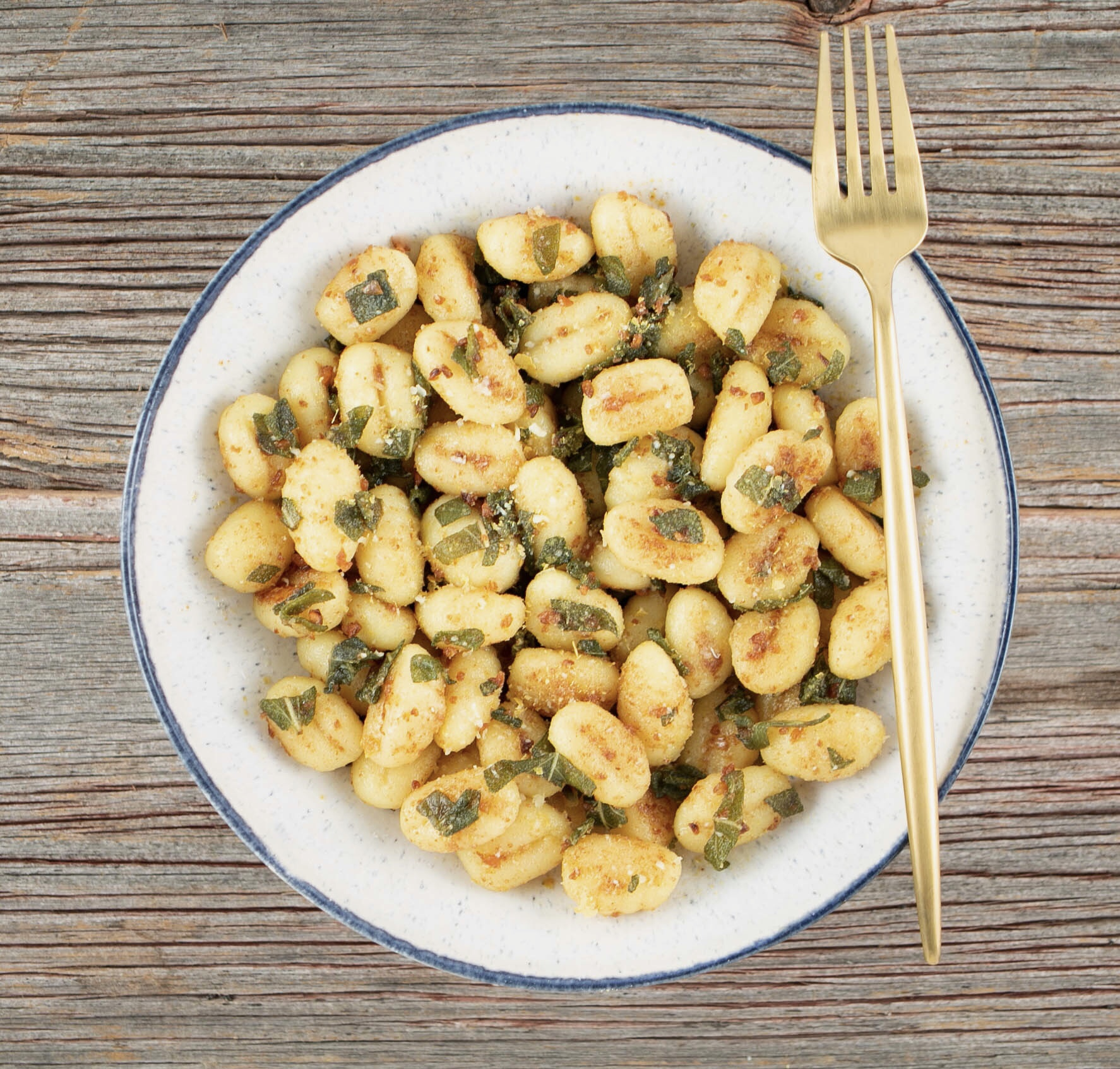 Vegan Brown Butter and Sage Gnocchi