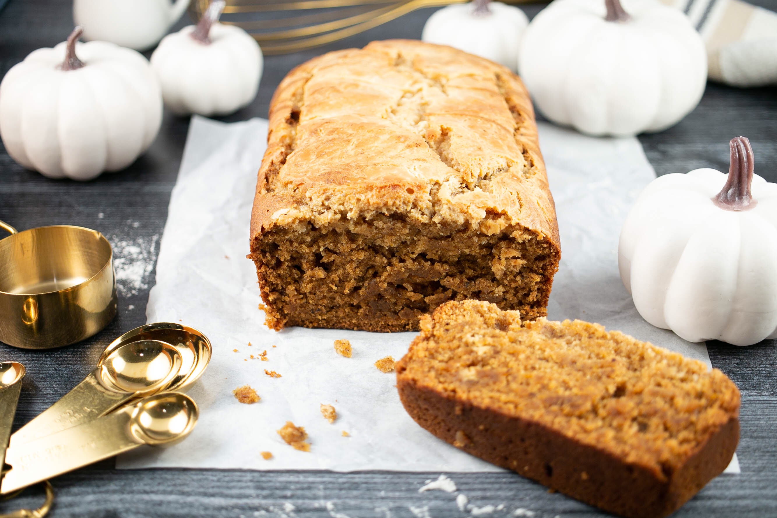 Vegan Pumpkin Cream Cheese Bread